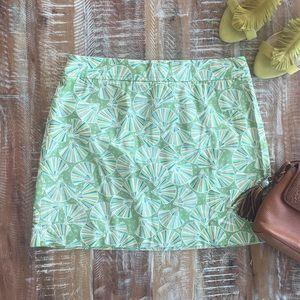 J. Crew twill fan seashell mini skirt